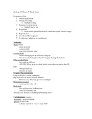 Zoology 101-Exam 1-Study Guide
