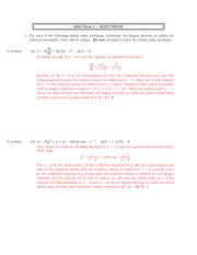 Mid-Term 1 – SOLUTIONS