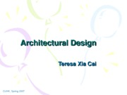 Lecuture 8 Architectural Design