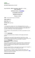 ACTG 4720 - Practice Final Exam 2 [Gail Drory] - April 2012