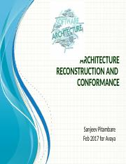 6.2. Architecture Reconstruction and Conformance.pptx