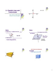 3.1 Parallel Lines Trans Notes