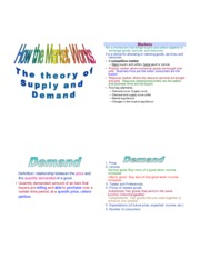How the Market Works: Theory of Supply and Demand