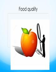 Quality of Food chapter