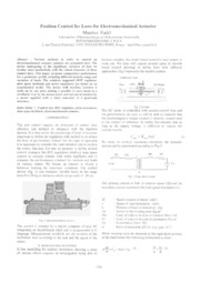Position Control for Laws for Electromechanical Actuator