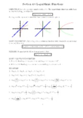Logarithmic Functions notes