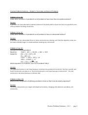 Practice Problems Solutions - Ch 2. Formulate and solve LP problems - revised 1