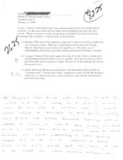PS 442 International Conflict Midterm Exam #1 Essay Front