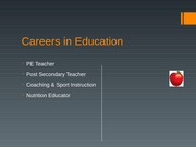 Careers in Education and Research II