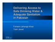Delivering access to safe drinking water