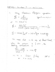 Phys 203 Clausius Clapeyron Equation Review Question Solutions