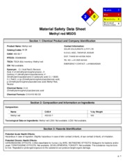 MSDS Methyl Red Solar