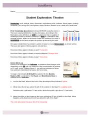 Titration help - Activity B Determining concentration Get ...