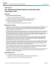 1.4.1.1 Lab - Researching Network Attacks and Security Audit Tools