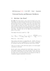 Physics 8.01 Pset 12 Solutions
