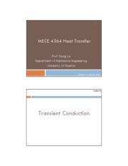 Lecture 10 Transient conduction