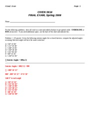 CIVE 3614-Final Exam Review