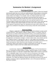 Summarize articles for Module #1 Assignment.docx
