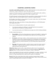 ACCT 4314 Ch 2 Study Notes