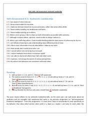 MGT 4025_Self Assessment- Authentic Leadership_Joseph Faizal Pinheiro.docx