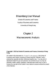 Bloomberg User Manual Chapter Two