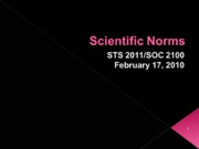 Scientific Norms 021710
