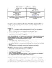 Research Method Syllabus Spring 2011-2