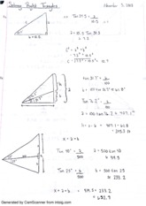 Solving right angles