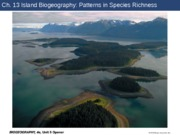 Ch. 13 Island Biogeography Patterns in Species Richness(1)(1)