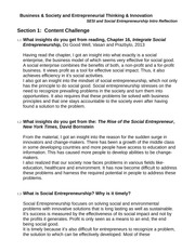 Business & Society and Entrepreneurial Thinking & Innovation