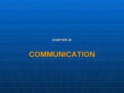 Communication chap10