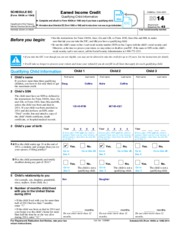 Earned Income Credit Worksheet A+.pdf - 2014 Form 1040Lines 66a ...