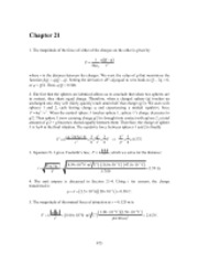 PHY2049 Chapter 21 Solutions