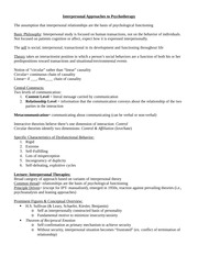 Psych 383 Notes Interpersonal Therapies_Becca