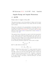 Physics 8.01 Pset 10 Solutions