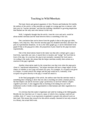 Teaching in Wild Meerkats