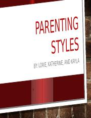 Parenting Styles 1