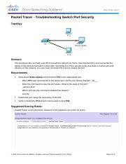 2.2.4.10 Packet Tracer - Troubleshooting Switch Port Security Instructions.docx
