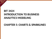Lecture 5-Charts and Sparklines