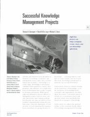Successful Knowledge management projects.pdf