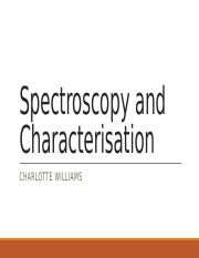 Spectroscopy and Characterisation
