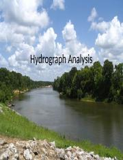 Lecture12 - Hydrograph Analysis.pptx