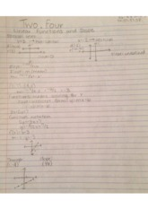 College Math 2.4 Linear Functions and Slope Notes