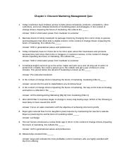 Chapter 1 Discover Marketing Management Quiz.docx