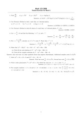 Tutorial Week 8-9 Problem Set Answers