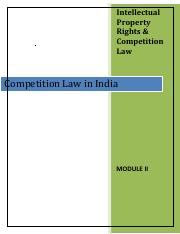 Module 2- Competition_law_in_India