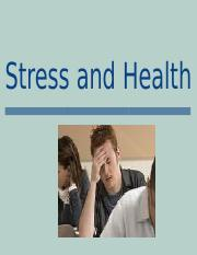 Stress and Health.ppt