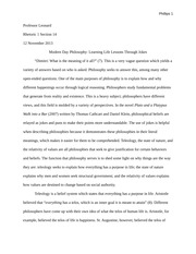 Philosophy Essay Example