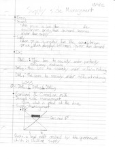 ECON 1101 Supply Side Management Notes