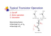 Typical Transistor Operation